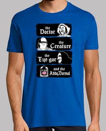 le médecin, les créatures, l'œil et la gor abby normale