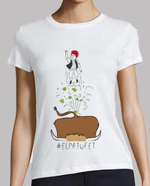 le patufet - noia de samarreta, pigments ecologics i amb qualitat prem