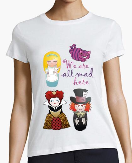 Tee-shirt le pays alice dans les pays des merveilles