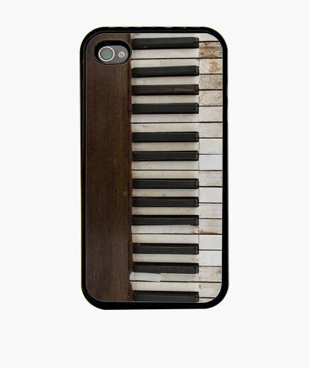 Coque iPhone le piano  vintage