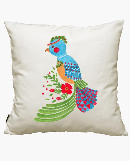 Housse de coussin le quetzal bleu