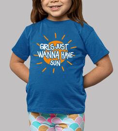 le ragazze vogliono solo avere il sole