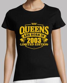 le regine sono nate nel 2003