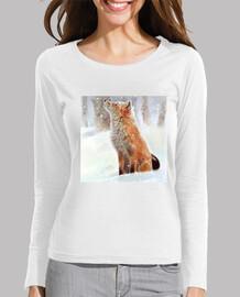 le renard et la neige