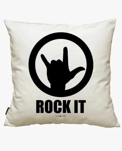Housse de coussin le rock noir