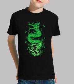 le serpent d'herbe à l'intérieur - chemise d'enfants
