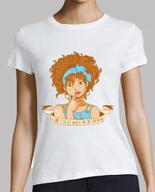 le sourire de la  tee shirt   femme  redhair