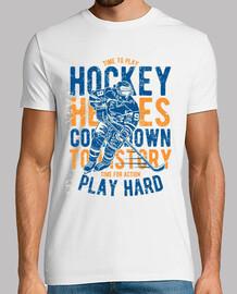 le temps de jouer au hockey