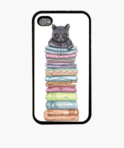 Coque iPhone le trône du chat