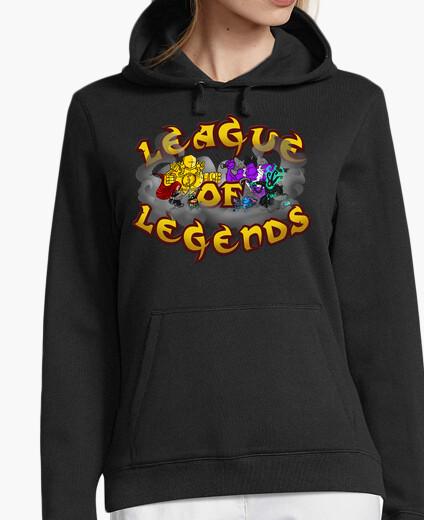 Felpa league di legends (ragazza incappucciati)