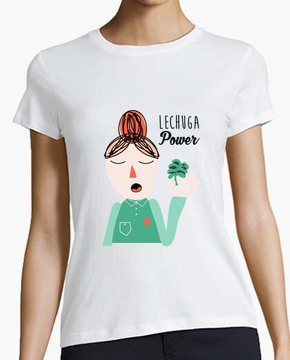 Camiseta Lechuga Power1 white