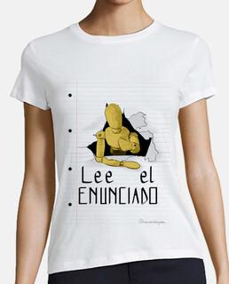 Lee el enunciado 1 para camisetas clara, mujer