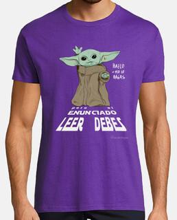 Lee el enunciado Yoda, para camiseta oscura