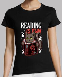 leer es divertido gatito oscuro y magia negra para amantes de los gatos y los libros