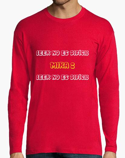 Camiseta LEER NO ES DIFÍCIL