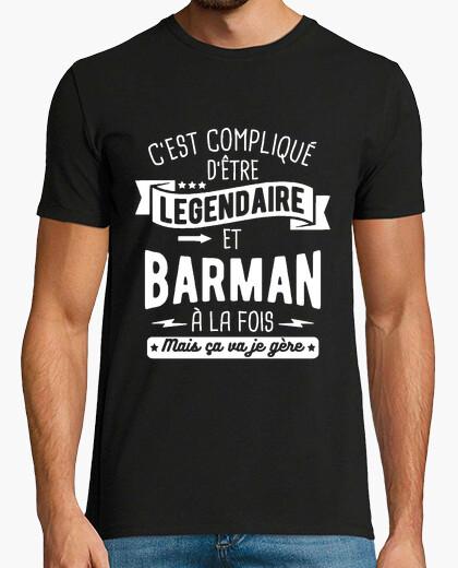 Tee-shirt Légendaire et barman à la fois