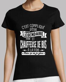 Légendaire et chauffeuse de bus à la fo