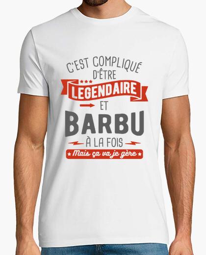 Camiseta legendario y barbudo