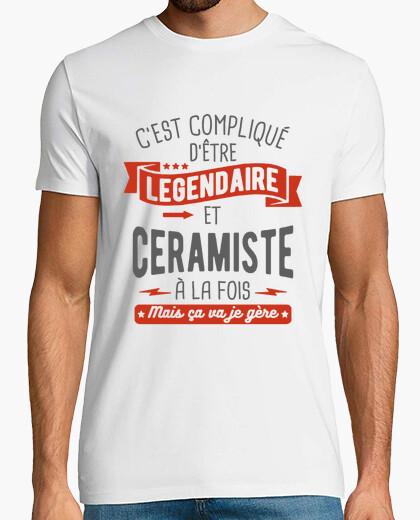 Camiseta legendario y ceramista