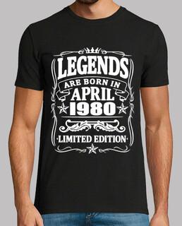 Legenden geboren im April 1980
