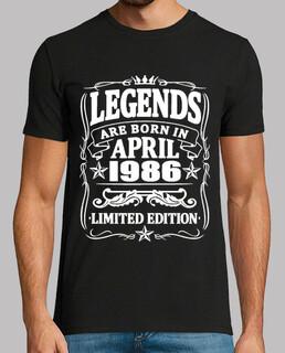 Legenden geboren im April 1986