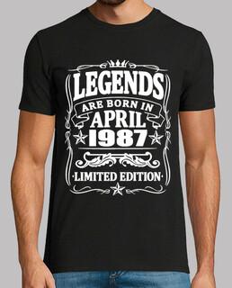 Legenden geboren im April 1987