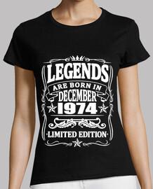 Legenden geboren im Dezember 1974