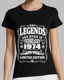 Legenden geboren im Februar 1974