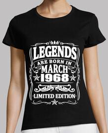 Legenden geboren im März 1968