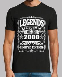 légendes nées en décembre 2000
