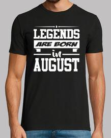 légendes sont nées en août