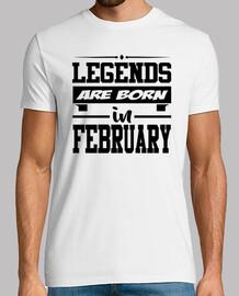 légendes sont nées en février