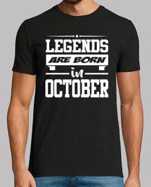 légendes sont nées en octobre