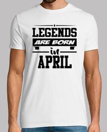 légendes sont nés en avril
