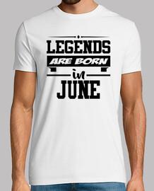 légendes sont nés en juin