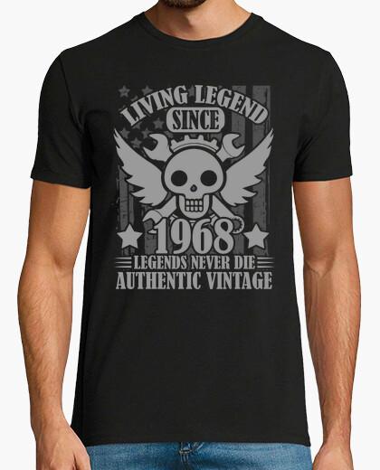 Tee-shirt légendes vivantes depuis 1968 légendes jamais