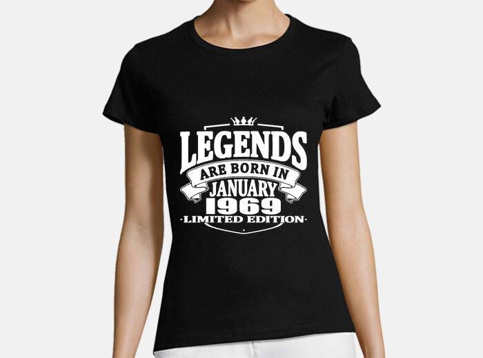e8b288861 Legends are born in january 1969 T-shirt - 1647237 | Tostadora.com