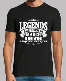 Legends are born in march 1978