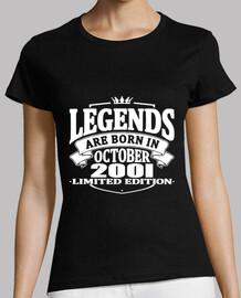 legends are born in october 2001
