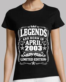 Legends born in april 2003