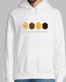 lego maglione bianco
