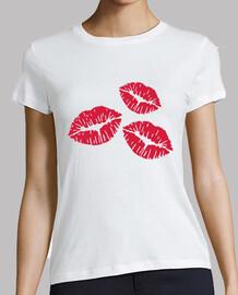 lèvres baisers rouges