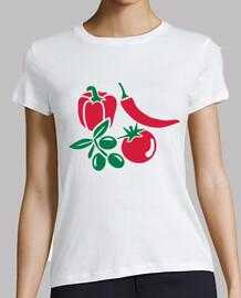 légumes tomate olive poivron chil