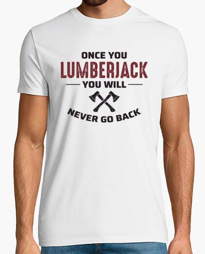 Camiseta leñador hacha árbol carpintero...