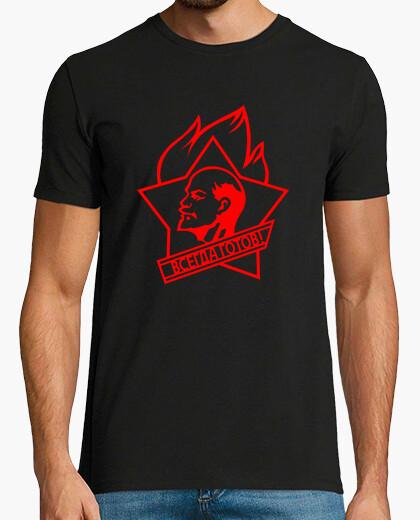 Camiseta Lenin estrella roja de fuego