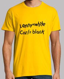 lenny= white , carl = black