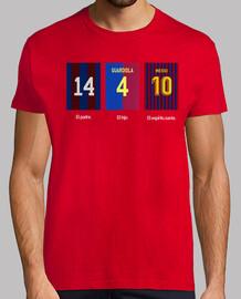 Leo Messi, Pep Guardiola, Johan Cruyff - F.C. Barcelona