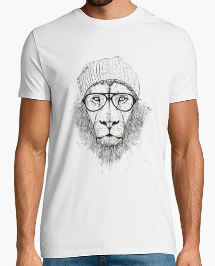 Camiseta león fresco (bw)