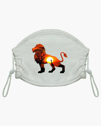 Mascarilla niño león - original