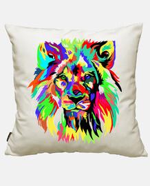 león colorido